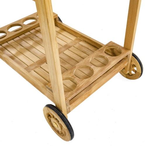 Outdoor Wooden Serving Cart