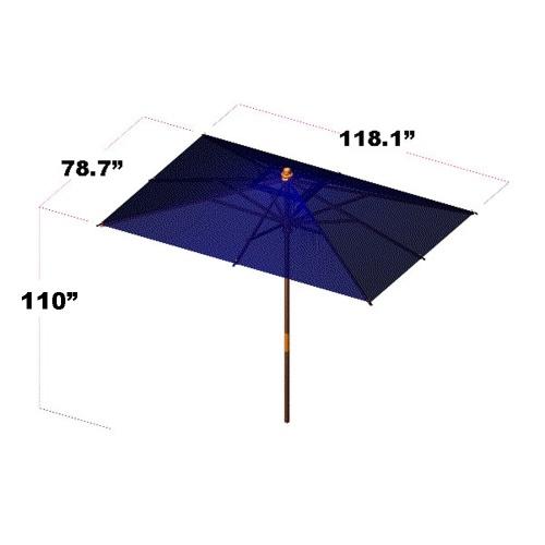 westminister teak umbrella