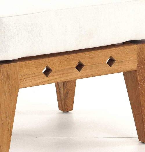 teak chair ottoman