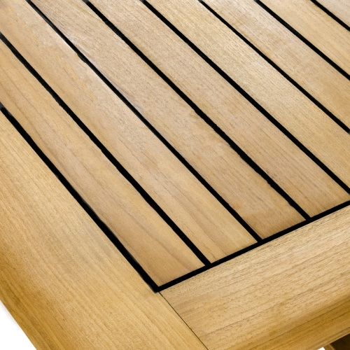 teak outdoor bar table top sealed with sikaflex