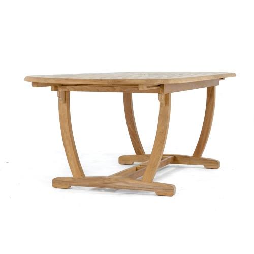 double butterfly teak table