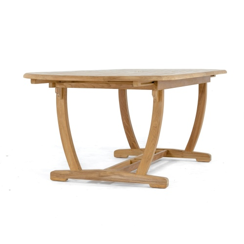teak table with extension