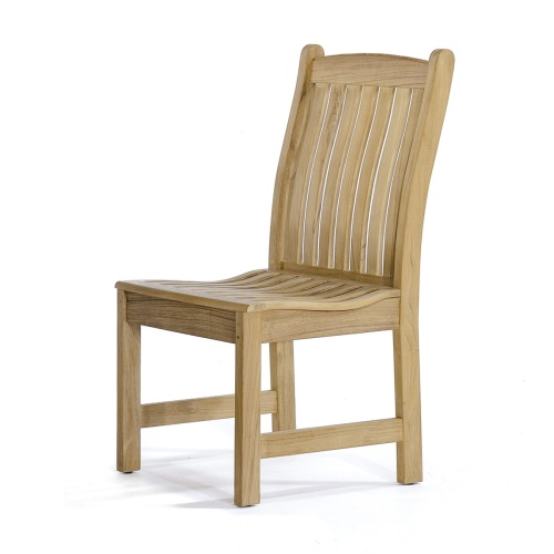 side chair outdoor patio teak