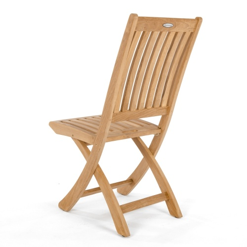 patio sidechair contemporary teak wood