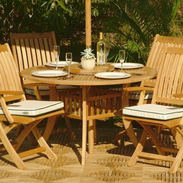 foldable teak wood dining chair
