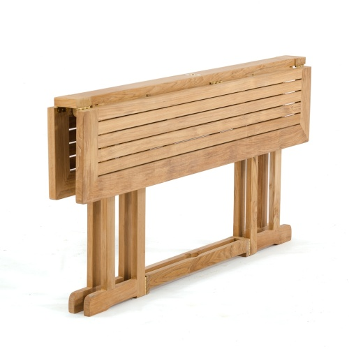 half folding outdoor table