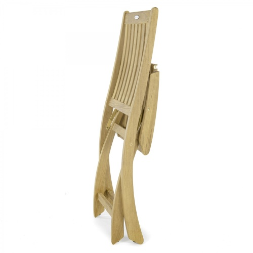 foldable wooden deck chair