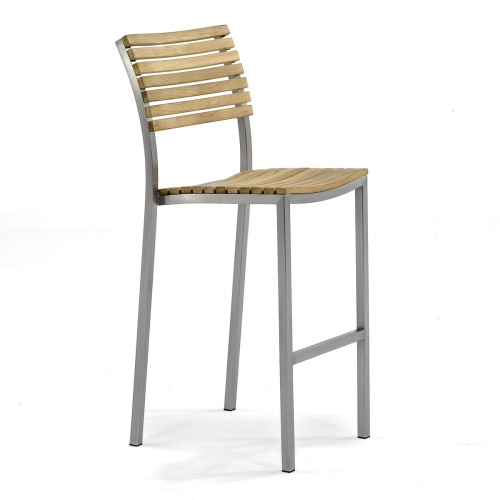 large outdor teak bar stools