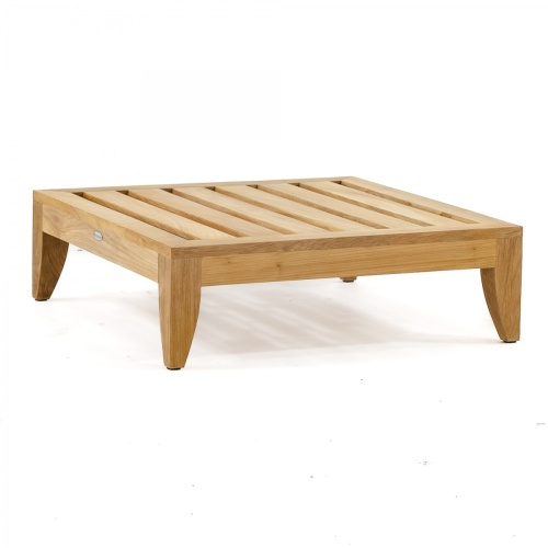 low profile teak frame ottoman