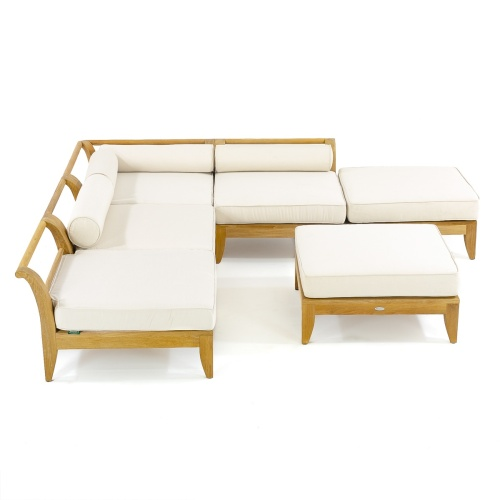 deluxe deep seating sectional