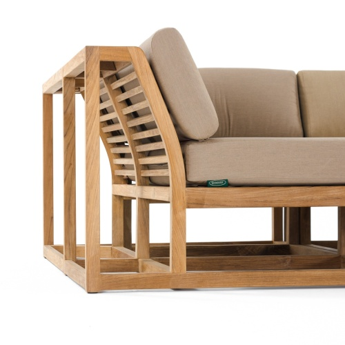 teak slat sectional seating