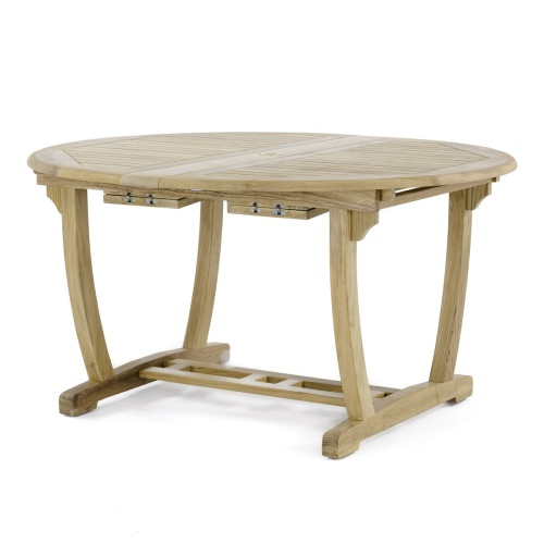 extendable teak wood table butterfly