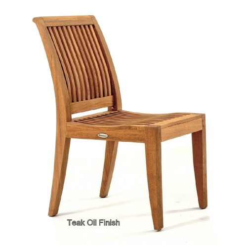 teak dining side chairs patio