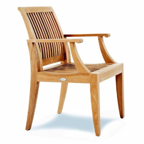 teak armchair outdoor dining