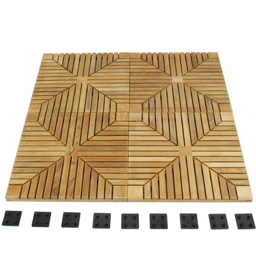 outdoor teak deck tiles