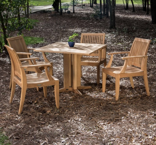 5pc wood dining set