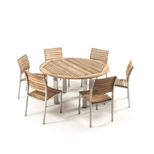 round teak dining set