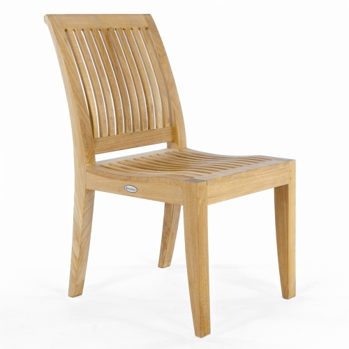 arched back teak sidechair