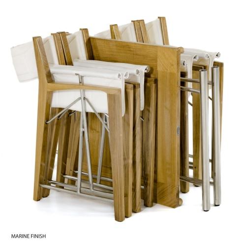 teakwood folding directors chairs