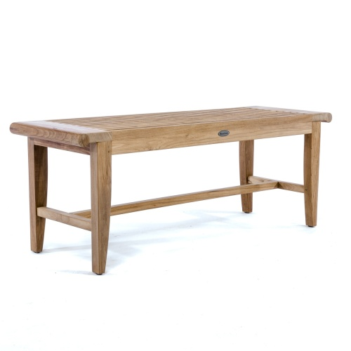 aqua teak backless benches