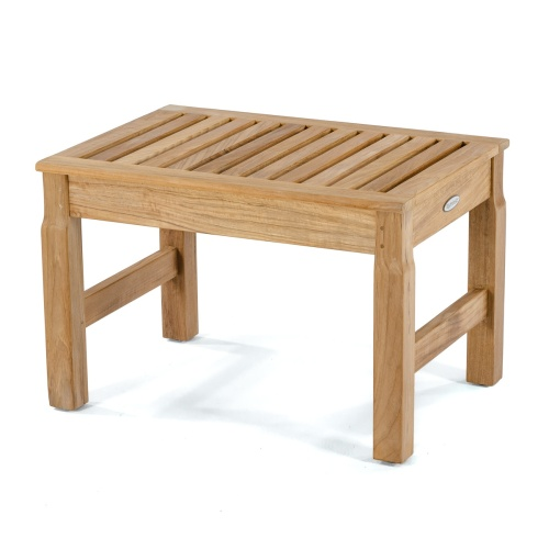 teakwood backless stool