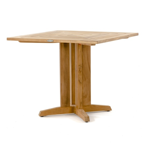 square top wooden table