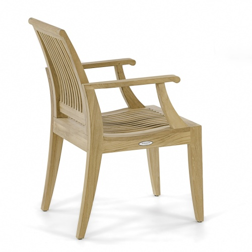 patio dining chair wooden outdoor