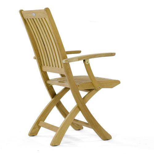 signature folding chair teak