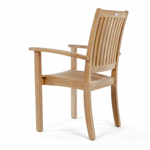 teak dining chair that stacks 4 high