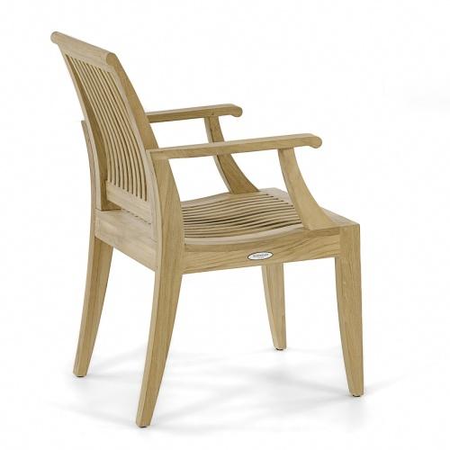 teak outdoor arm chair