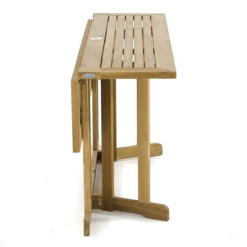 teak dropleaf table