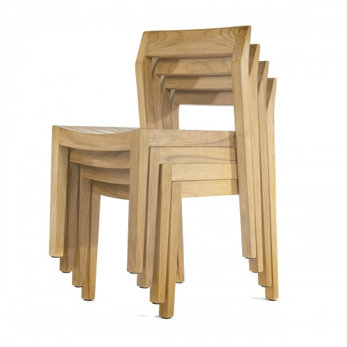 grade a teak wood luxurious stacking side chairs