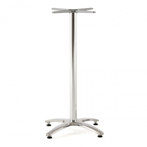 4 person teak table stainless steel base