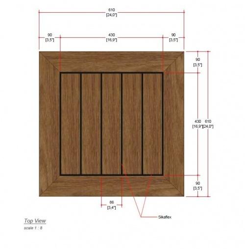 rustic teak table top