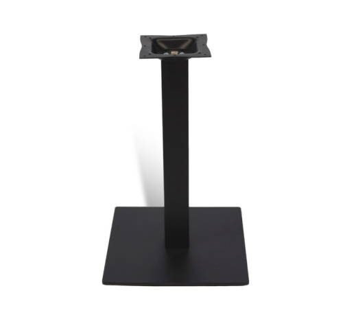 black outdoor stainless steel table base