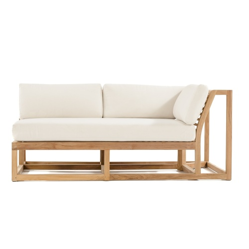 teak paio sectional side