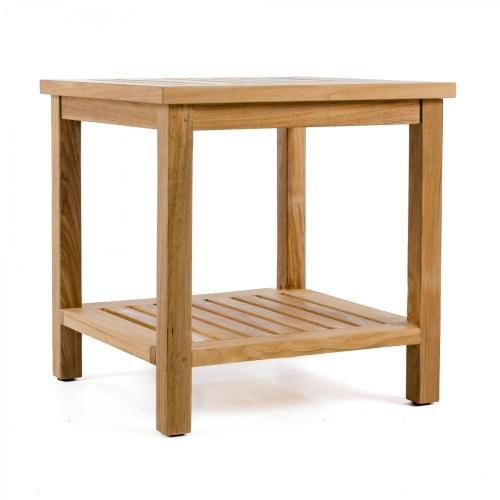 wooden teak side table patio