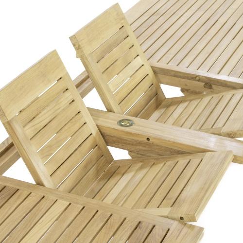 rectangular teak extending dining patio table