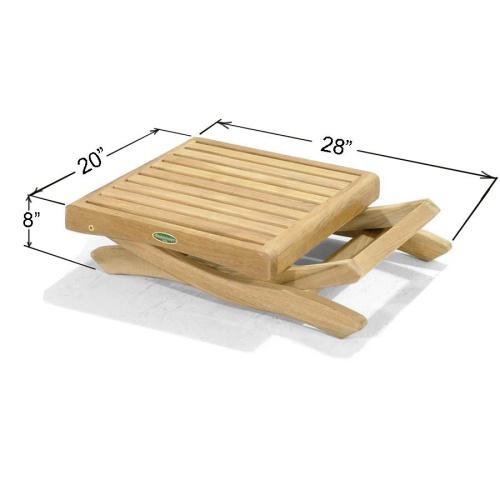 teak hardwood outdoor patio side table