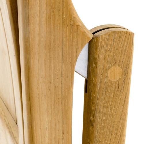 foldable dining side chair teak