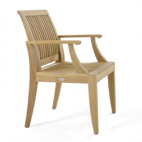 teak armchair for patio dining