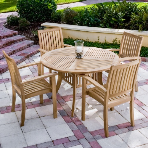 Contemporary Teak Dining Sets