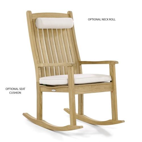 teak rocking chairs porch