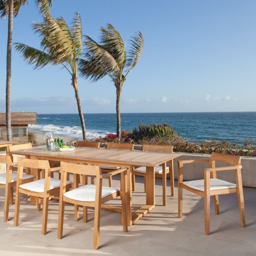 westminster teak horizon dining set