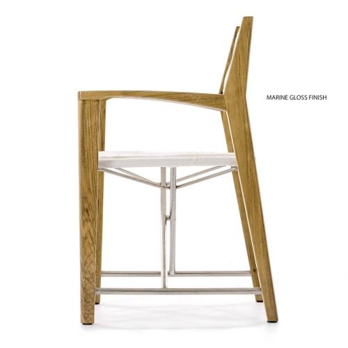 director chair teakwood folding