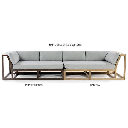 grade a teak wood luxurious sectional
