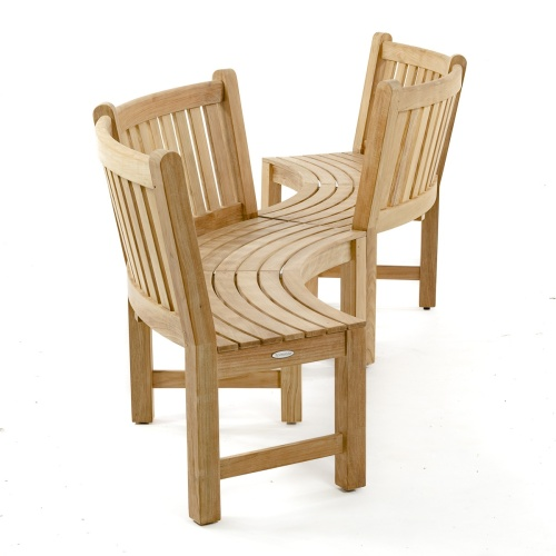 wholesale teak curved benches for gardens