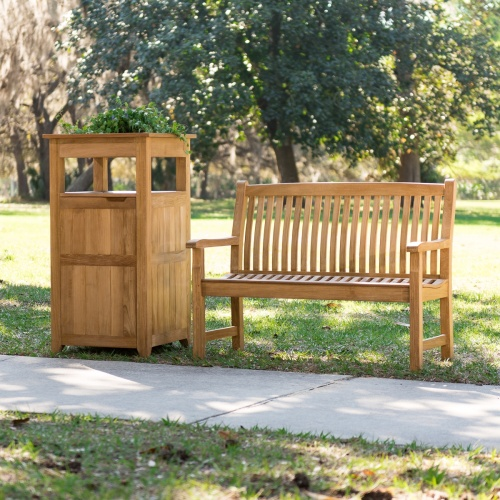 Teak Outdoor Bench Set