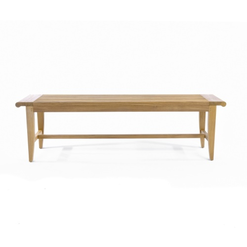 Backless Wood Bench 5 ft