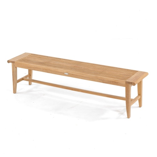 Teak Backless Outdoor Bench 6 Ft